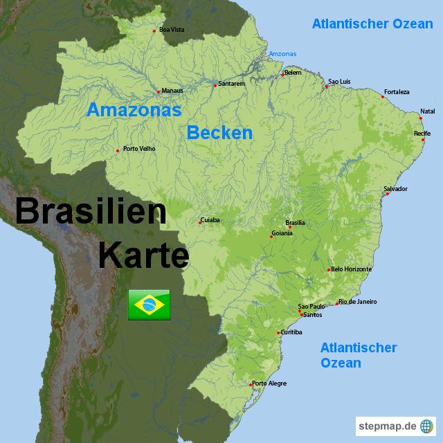 Brasilien Karte von Karten - Landkarte für Brasilien
