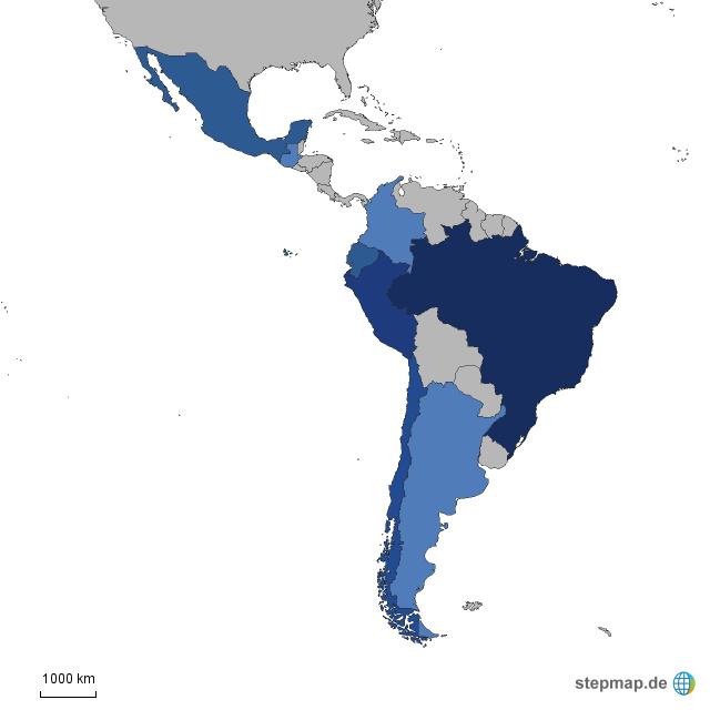 Brazil, Chile, Argentina, Colombia, Peru, mexico, guatemala, ecuador ...