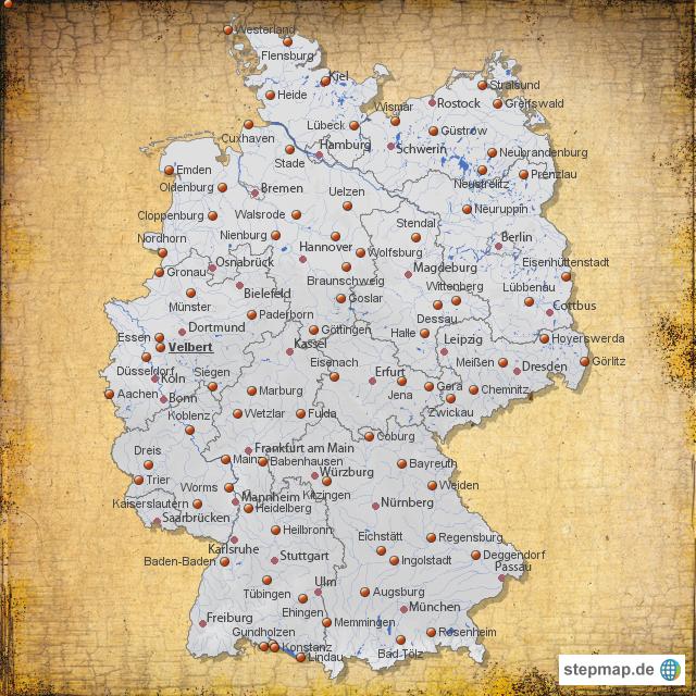 Deutschland angrenzende länder karte leer