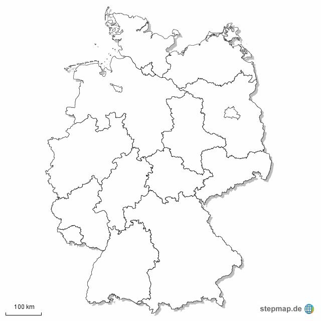 Bundesländer Karte Ohne Namen.Karte Deutschland Bundesländer Ohne Beschriftung Kleve Landkarte