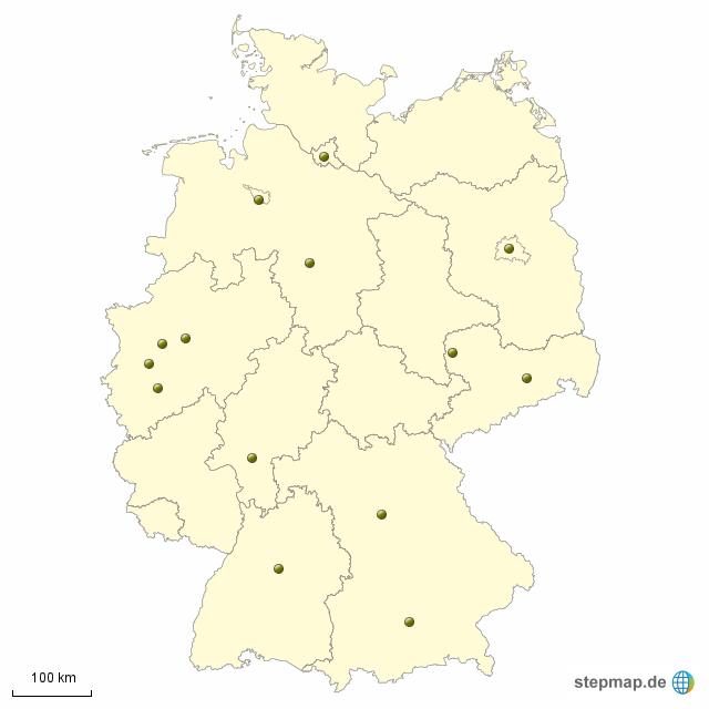 Karte Bundesländer Ohne Namen