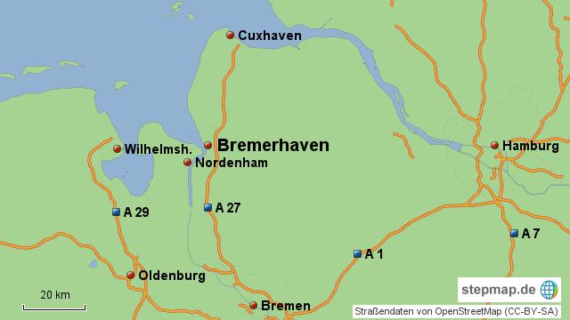 Bremerhaven Landkarte Deutschland
