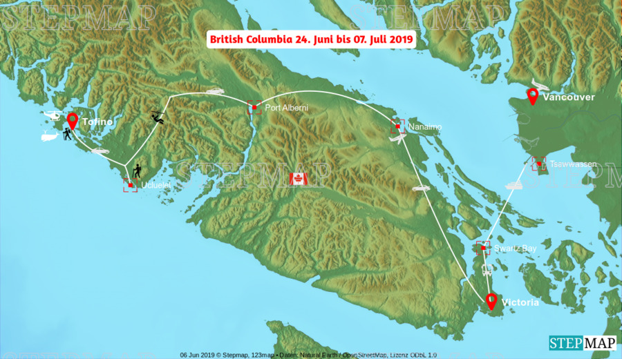 Landkarte: British Columbia
