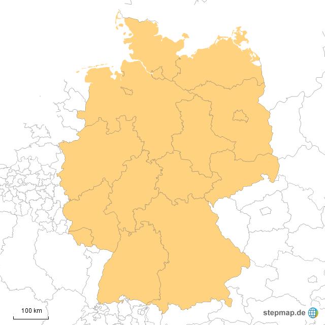 bundesl nder grenzen von memaho landkarte f r deutschland. Black Bedroom Furniture Sets. Home Design Ideas