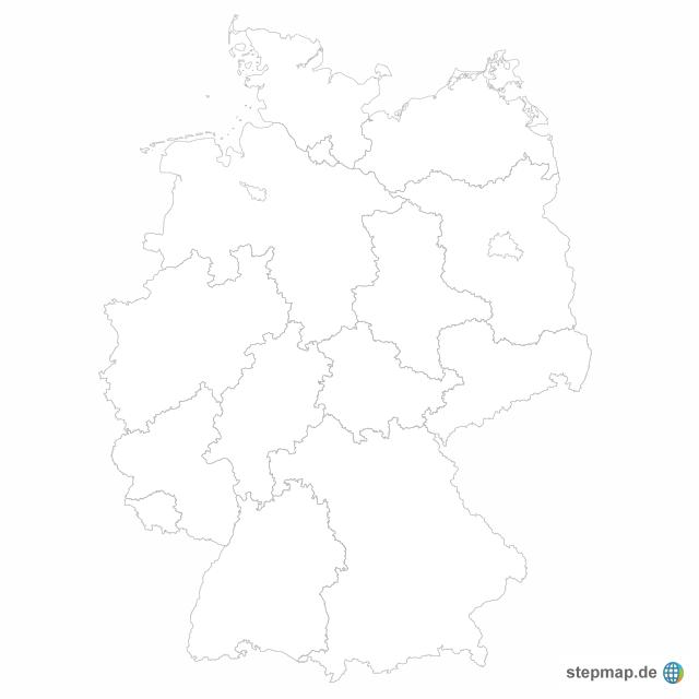 deutschland karte blanko Bundesländer blanko von hansbund   Landkarte für Deutschland alle
