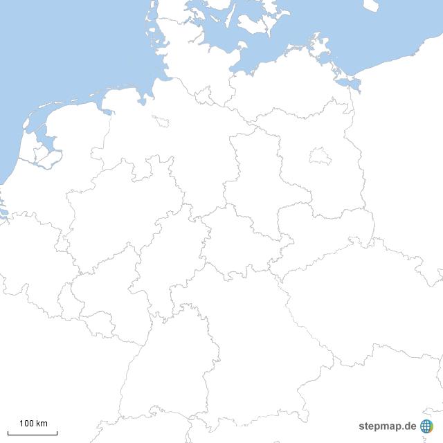 Deutschland Karte Bundesländer Schwarz Weiß.Bundesländer Blanko Von Markkunzelmann Landkarte Für Deutschland