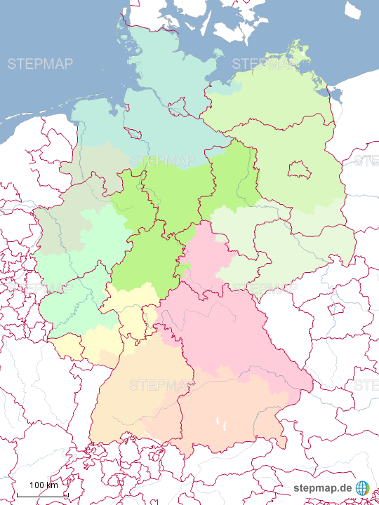 Bundesländer Karte Mit Plz.Deutschlandkarte Postleitzahlen Bundeslander