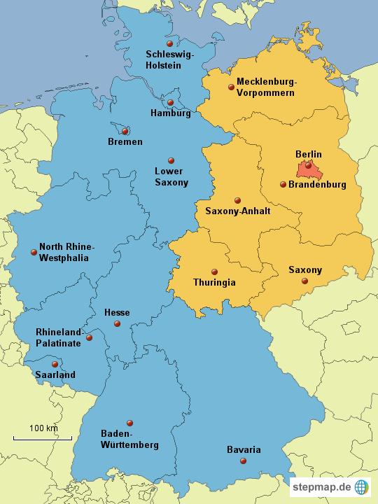 Europa deutschland deutschland karten bundesländer ost west english