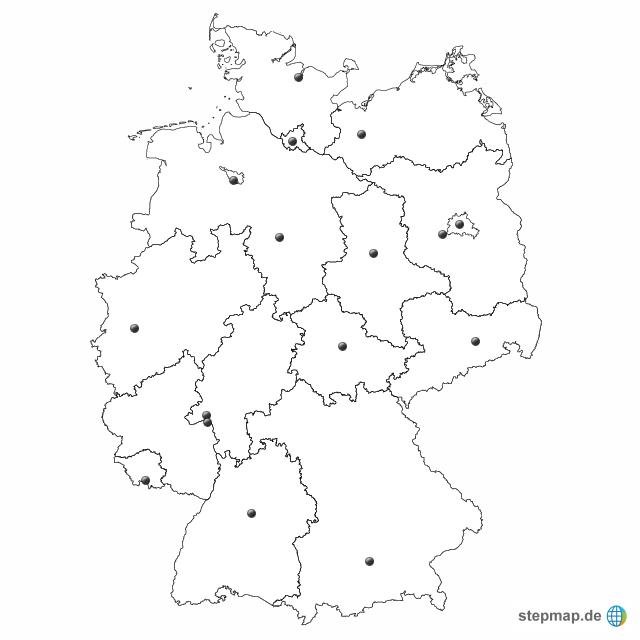 bundesl nder stumm von timerburner landkarte f r deutschland alle bundesl nder. Black Bedroom Furniture Sets. Home Design Ideas