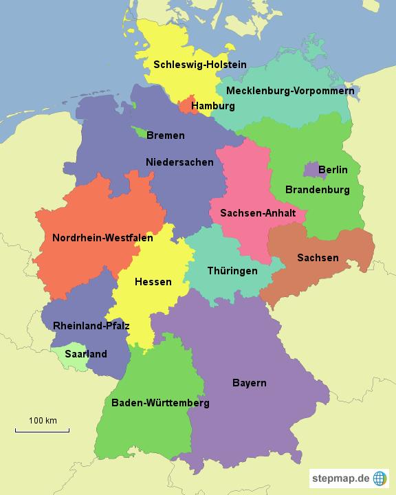 bundesländer karte ile ilgili görsel sonucu