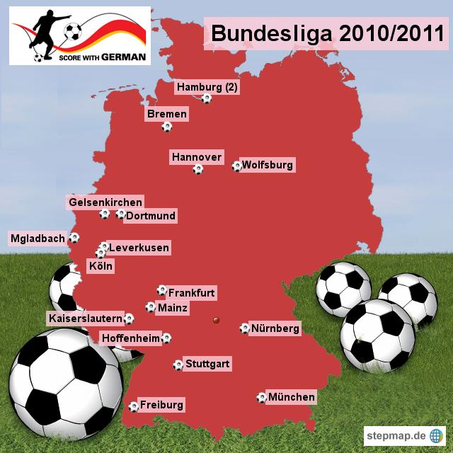 bundesliga 2010 2011 von scorewithgerman landkarte f r