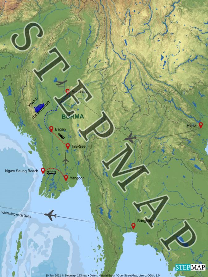 Landkarte: Burma