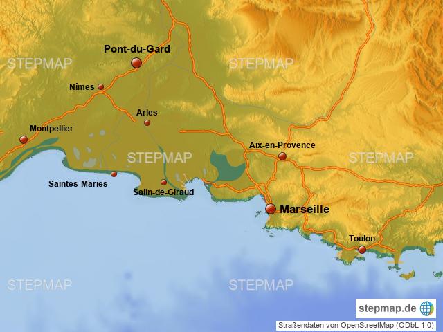 Camargue Karte.Camargue Von Pnerst