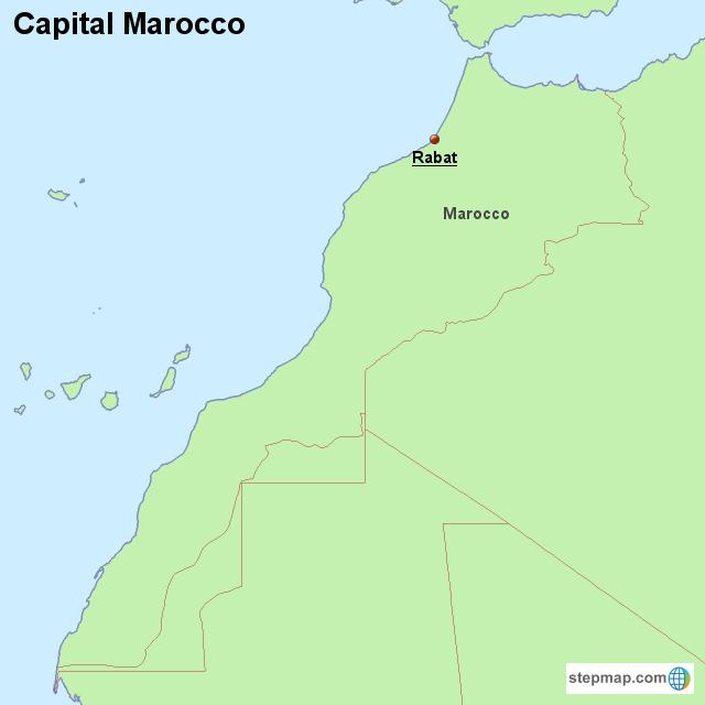 capital marocco von countrymap landkarte f r marokko. Black Bedroom Furniture Sets. Home Design Ideas