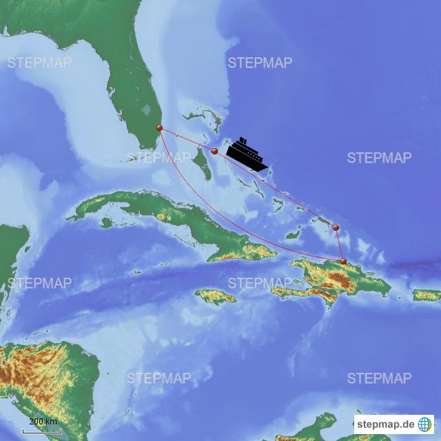 Carnival Splendor Route von lhopp - Landkarte für Welt on