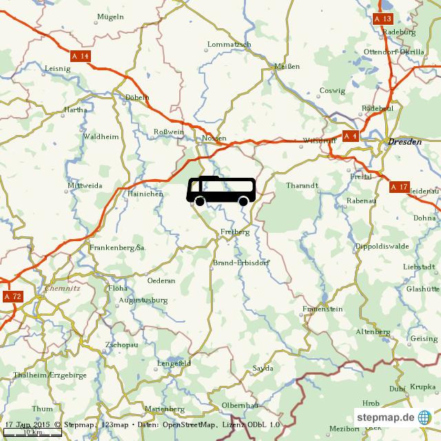 Karte Chemnitz.Stepmap Chemnitz Dresden Landkarte Fur Welt