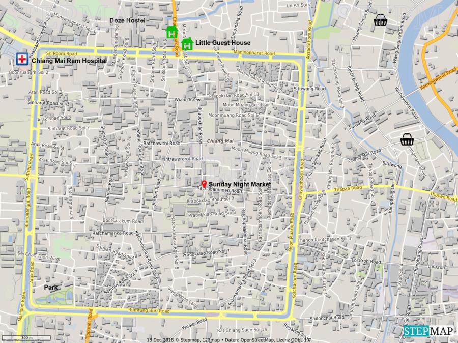 Landkarte: Chiang Mai