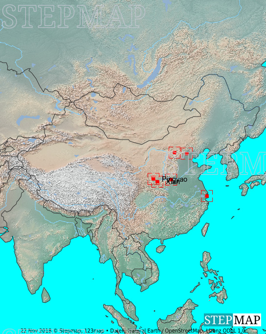 Landkarte: China Orte