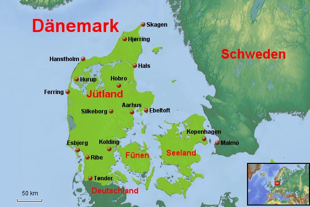 jütland karte Landkarte Jütland | Deutschland Karte