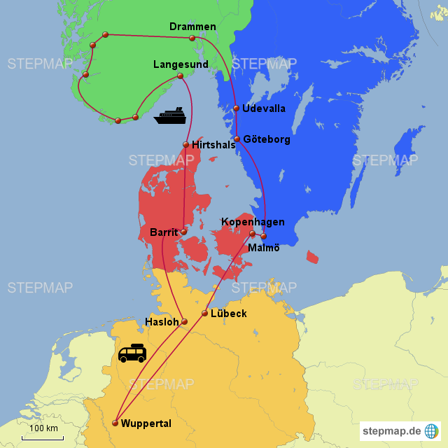 karte dänemark norwegen Dänemark Norwegen Schweden 2017 von Sralelb   Landkarte für