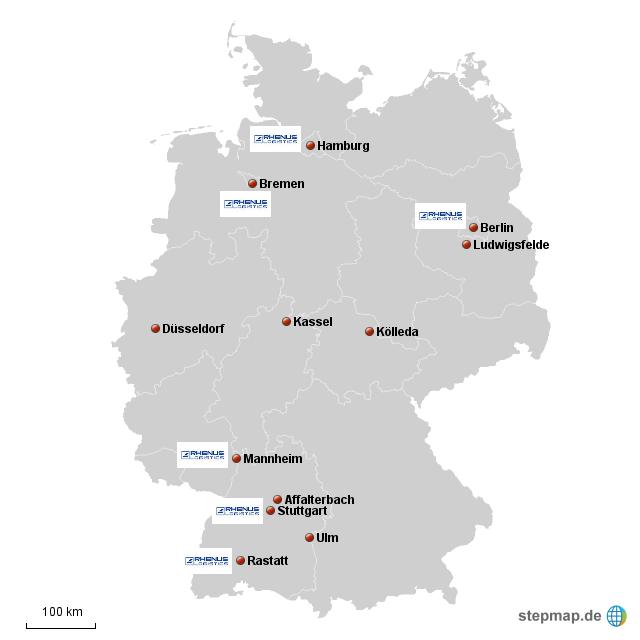 Daimler Rhenus Standorte Von Irinaroth Landkarte F R