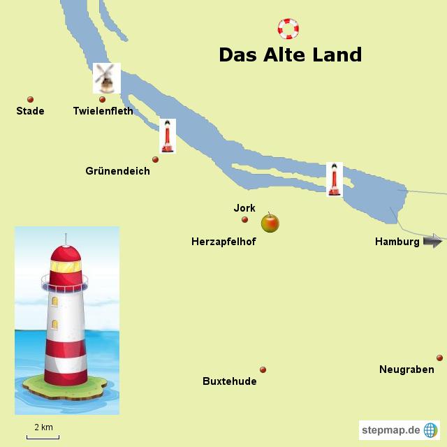altes land karte StepMap   das Alte Land   Landkarte für Deutschland