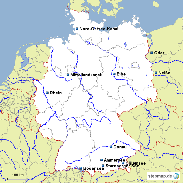 de fl sse seen kan le von lucie landkarte f r deutschland. Black Bedroom Furniture Sets. Home Design Ideas
