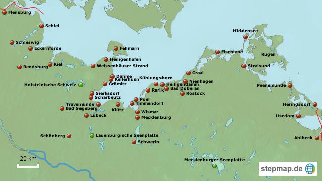 deutsche ostseeküste karte Deutsche Ostseeküste von dirk2707   Landkarte für Deutschland deutsche ostseeküste karte