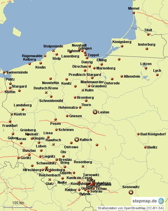 deutsche st dte polen von lolmops35 landkarte f r deutschland. Black Bedroom Furniture Sets. Home Design Ideas