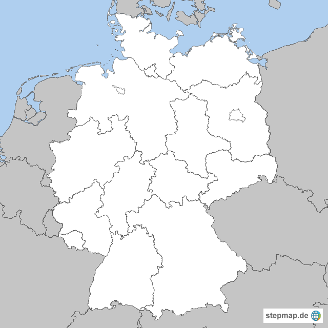 Bundesländer Karte Ohne Namen.Deutschlandkarte Ohne Bundesländer My Blog
