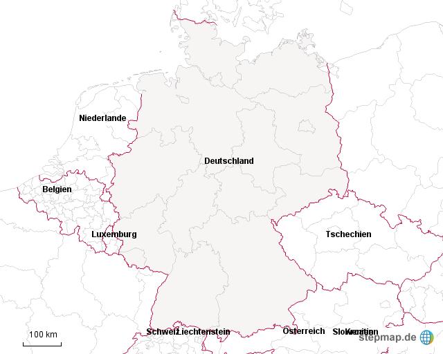deutschland angrenzende l nder von susele landkarte f r deutschland. Black Bedroom Furniture Sets. Home Design Ideas