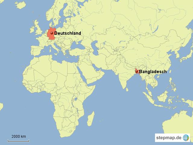 Dhaka Weltkarte