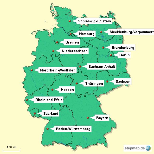 deutschland bersicht von bettinapeters landkarte f r deutschland alle bundesl nder. Black Bedroom Furniture Sets. Home Design Ideas