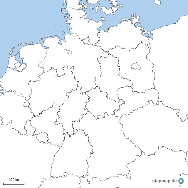 deutschland bundeslander weiss nachbarl nder von christiaan landkarte f r deutschland alle. Black Bedroom Furniture Sets. Home Design Ideas