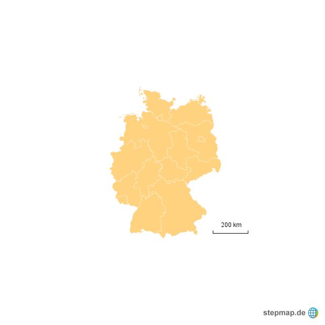 deutschland fläche von neueruser - landkarte für deutschland