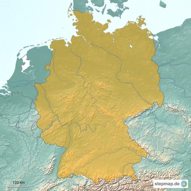 Deutschland Flüsse Gebirge Von Dedoodoo Landkarte Für Deutschland