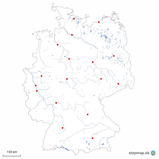 Landkarte Deutschland Flüsse Und Städte Foroculturalazcapotzalco