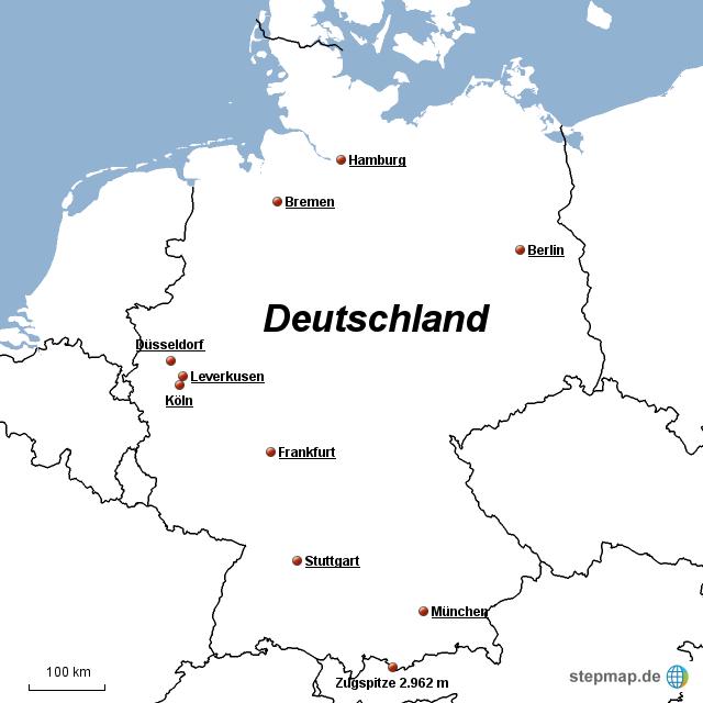 deutschland gro e st dte von charly0750 landkarte f r deutschland. Black Bedroom Furniture Sets. Home Design Ideas
