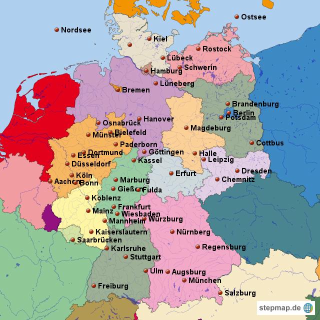deutschland karte von nisi landkarte f r deutschland alle bundesl nder. Black Bedroom Furniture Sets. Home Design Ideas