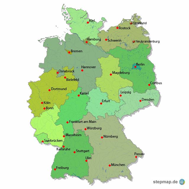 deutschland karte von exkurz landkarte f r deutschland alle bundesl nder. Black Bedroom Furniture Sets. Home Design Ideas
