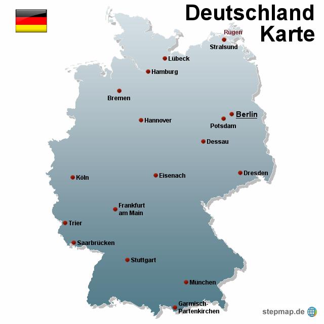 deutschland karte von karten landkarte f r deutschland. Black Bedroom Furniture Sets. Home Design Ideas