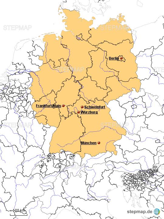 schweinfurt karte deutschland Deutschland   Lage Schweinfurt von Blotevogel   Landkarte für