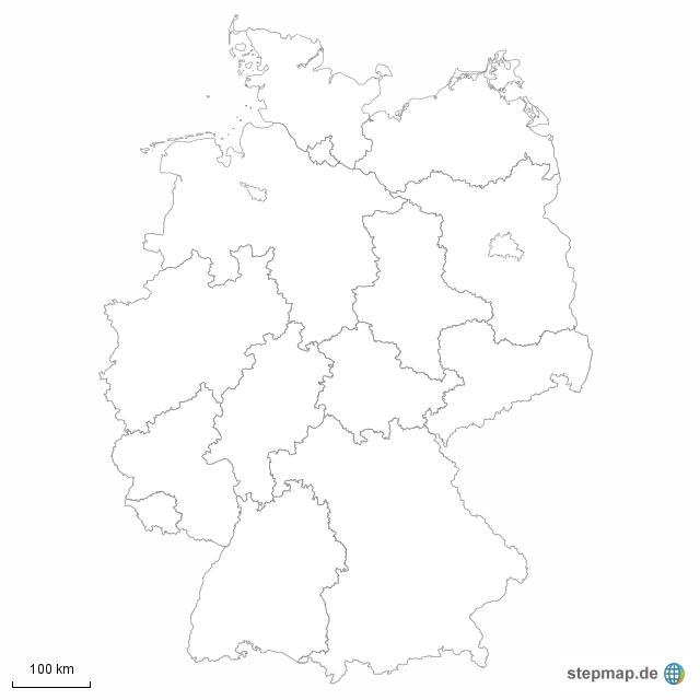 bundesländer karte leer Deutschland Bundesländer Karte Leer   goudenelftal