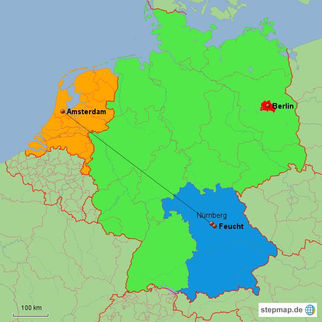 landkarte deutschland niederlande