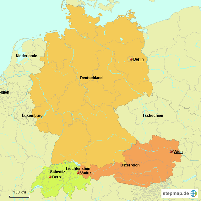 Karte Süddeutschland österreich Schweiz.Landkarte österreich Schweiz Hanzeontwerpfabriek
