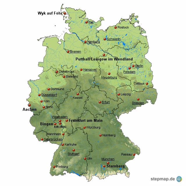 deutschland politisch physisch privat von stevealaska landkarte f r deutschland alle bundesl nder. Black Bedroom Furniture Sets. Home Design Ideas