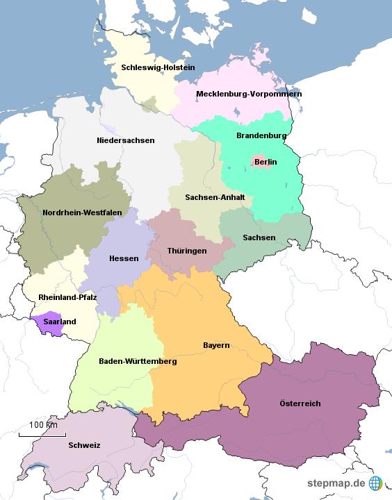 deutschland sterreich schweiz von sweiss landkarte f r. Black Bedroom Furniture Sets. Home Design Ideas