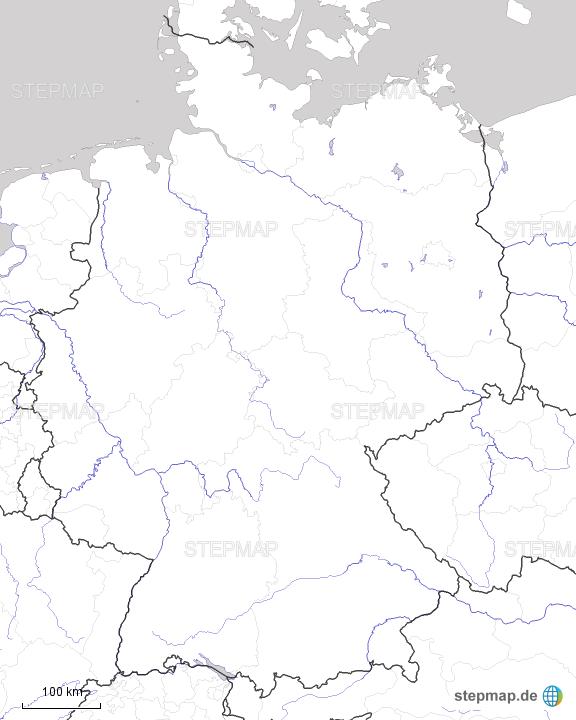 Deutschland Stumme Karte Flüsse Bl Von Frau Ha Landkarte Für