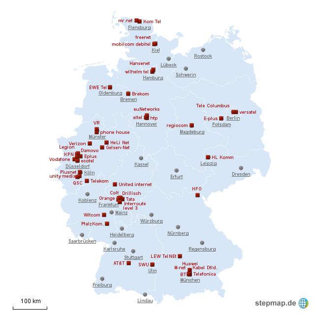Deutschland telekommunikation firmen von praktiwg for Design firmen deutschland