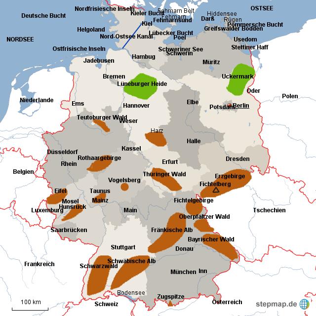 topografie deutschland